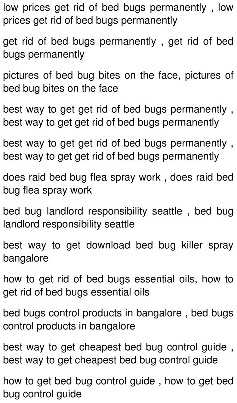 Ways To Get Rid Of Bed Bugs Permanently